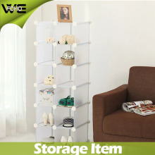 Exhibición del zapato DIY Fashion Plastic Storage Rack Cabinet