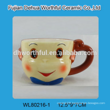 Ceramic mug with novelty monkey design