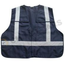 Chaleco de trabajo de seguridad de 5 puntos, chaleco reflectve, chaquetas reflectantes azules