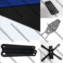 Placa de fibra de carbono 4,0mm para quadros FPV