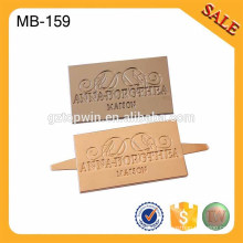 MB159 Fashion Metal Label For Women Bag Making Accessoires Décoration en métal avec logo personnalisé
