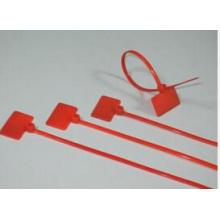 Sujetacables de marcador de nailon rojo con PA66