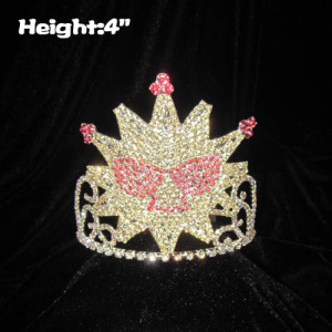Crystal Sun Shaped Pageant Crowns With Sun Glasses
