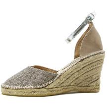 Ladies Espadrilles Man-Made Grass Slippers Ballerina Style