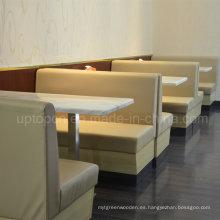 Asientos personalizados de la cabina del restaurante de los alimentos de preparación rápida (SP-CS318)
