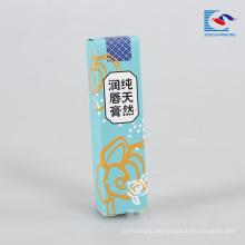 caja de embalaje de brillo de labios natural creativo para niños
