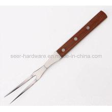 """12 """"de madera de largo manejar herramienta de barbacoa de acero inoxidable (SE-5652)"""