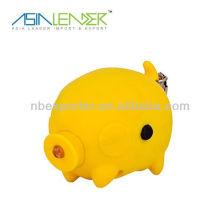 Перезаряжаемый фонарик с рукояткой MINI Pig Shape