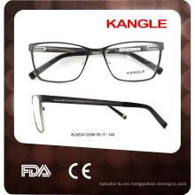 2017 nuevo modelo de caballeros de anteojos de metal marco óptico gafas marco gafas