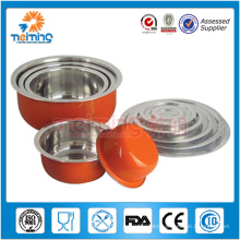 5pcs round food container/stainless steel fresh box