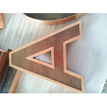 Señales personalizadas de letras metálicas para exteriores