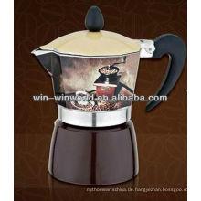 Italienisch Mokka Espresso Herd Top Kaffeemaschine