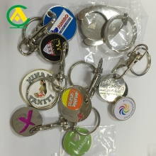 OEM Your Logo On Token Coins Keychain