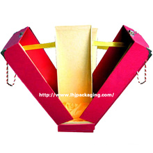 Luxury Middle Opened Paper Fragrance Box with Handle