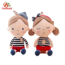 Sedex audit factory cuddly stuffed sitting human custom plush doll for kids