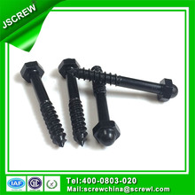 China Supply Customized Round Hex Head Self Tapping Black Bolt