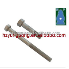 Hexagon bolt with thread and hole fastener accessories