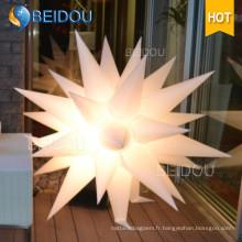 Vente en gros Événement Fête de mariage Décoration Jellyfish Lighted Inflatable Star