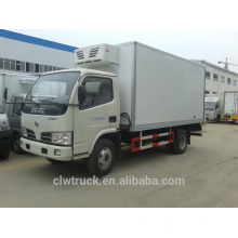 Dongfeng mini refrigerator box truck, 4-5 Tons refrigerated truck