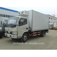Dongfeng mini caminhão caixa de refrigeração, 4-5 toneladas de caminhão refrigerado