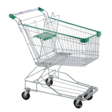 Folding Grocery Shopping Roller Push Cart with Baby Seat