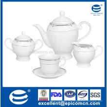Taza y platillo determinados del pote del azúcar del té de la porcelana 15pcs