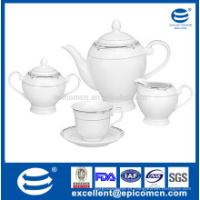 Chá de porcelana 15pcs xícara de açúcar conjunto copo e pires