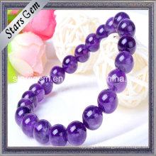 Bracelet de perles améthyste naturel de 7 mm à 11 mm