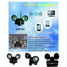 Registro de vídeo 720p e 5.0 luz de segurança do sensor de movimento solar com função wi-fi