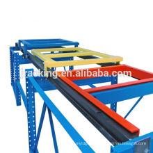 Warehouse-Palette Push-Back-Rack-System, Holz Regalsystem, Stack Racking Paletten-Rack Push Back Rack