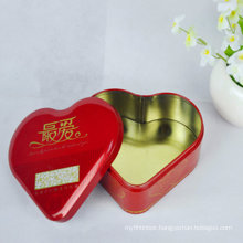 2016 Red Heart Shaped Gland Tin Box for Chocolate Gift
