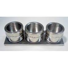 Porta-condimentos magnético aço inoxidável (CL1Z-J0604-3B)
