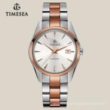 Relógio de Aço Inoxidável com Mostrador em Cristal de Safira 72005