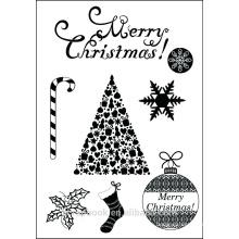 Sello claro de Navidad tipo scrapbook