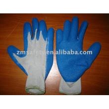 10 калибровочные полиэфир/хлопок латекс покрытием перчатки ZM829-ч