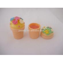 Mignon petit gâteau, hydratant pour les lèvres Baume lèvres maquillage cosmétiques