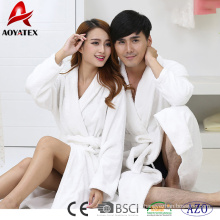 high quality 100% cotton white hotel terry bathrobe