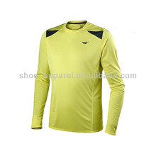 2014 hot sale dri fit long sleeve running shirts for men