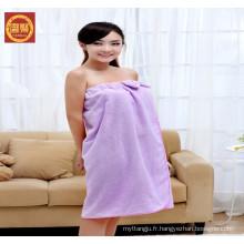 serviette 100% microfibre dobby, serviette de bain sex girl