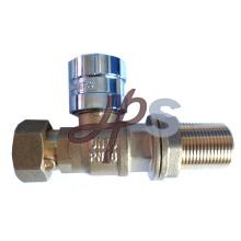Válvula de bola con cerradura magnética de latón para tubería de HDPE
