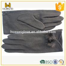 Guantes de lana largos personalizados de las señoras guantes lindos de las lanas del invierno para las muchachas