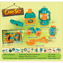 Boutique Playhouse Plastic Toy-Camping Set avec 6 accessoires Three