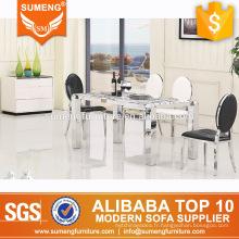 table de salle à manger en marbre de style américain en marbre de style américain et une chaise
