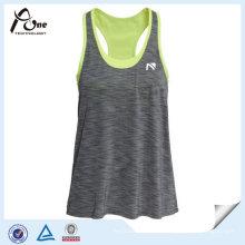 Camiseta de tirantes suelta para mujer con sujetador interior Fitness