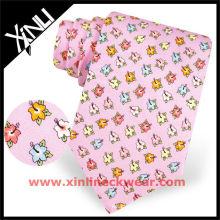 Cravate personnalisée en soie imprimée de conceptions personnalisées