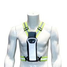 Hi Vis Vest Adjustable Safety Reflective Running Vest Mobile phone holder buckle, reflective safety belt