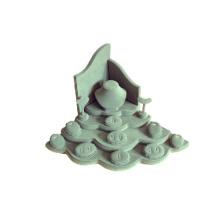 Fabricante de exclusivo Stand de jóias de couro de couro (WST-WL-T)
