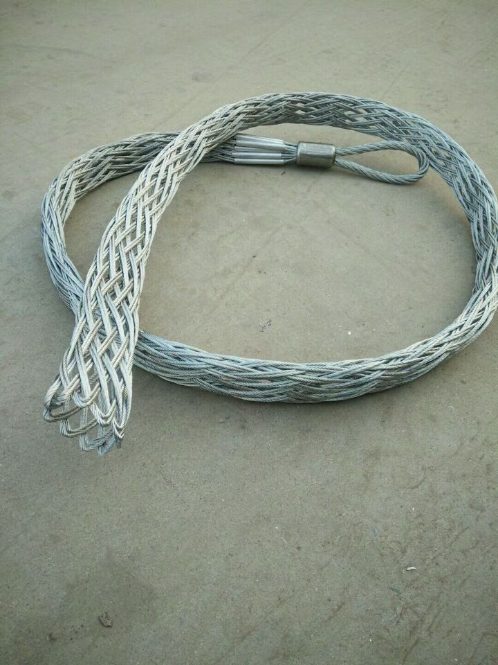 Wire mesh grip cable socks
