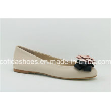 Latest Sweet Flat Leather Ballet Lady Shoes