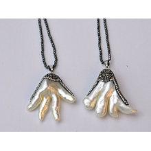 4.5 * 4cm kreative Mutter der Perlen-hängenden Halsketten-Schmucksachen